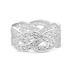 Simply Silver - Sterling silver pave band ring