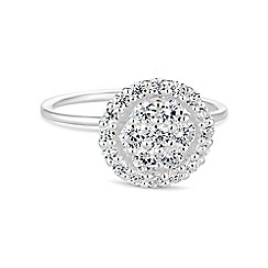 Simply Silver - Sterling silver flower centre ring