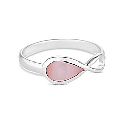 Simply Silver - Sterling silver pink mother of pearl infinity ring