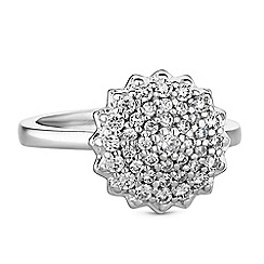 Simply Silver - Sterling silver pave cluster rings