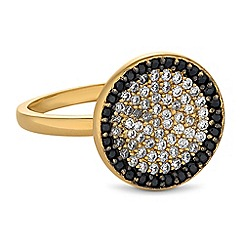 Simply Silver - Sterling silver pave disc ring