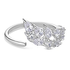 Simply Silver - Sterling silver waterfall rings