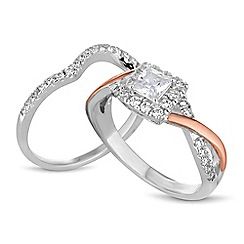 Simply Silver - Sterling silver cubic zirconia stacking ring set
