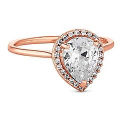 Simply Silver - Sterling silver peardrop rings