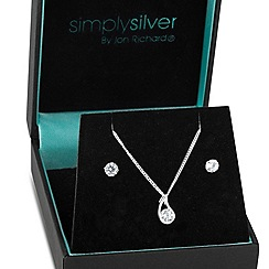 Simply Silver - Sterling silver cubic zirconia wave set