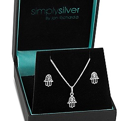 Simply Silver - Sterling silver hand of fatima set