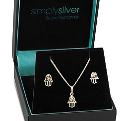 Simply Silver - Sterling silver gold plated hand of fatima set