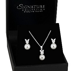 Simply Silver - Sterling silver cubic zirconia butterfly jewellery set