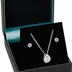 Simply Silver - Sterling silver cubic zirconia peardrop jewellery set