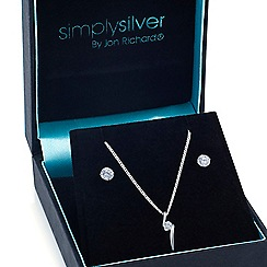 Simply Silver - Sterling silver cubic zirconia twist jewellery set