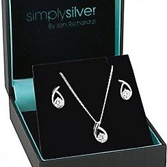 Simply Silver - Sterling silver cubic zirconia swirl jewellery set