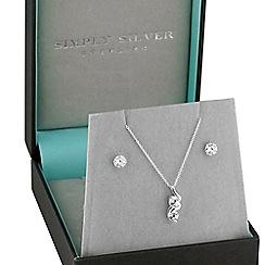 Simply Silver - Sterling silver double swirl jewellery set