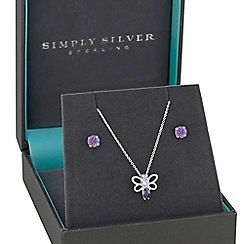 Simply Silver - Sterling silver butterfly jewellery set