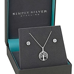 Simply Silver - Sterling silver tree of life jewellery set