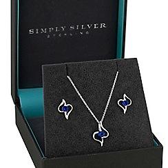 Simply Silver - Sterling silver cubic zirconia open swirl jewellery set