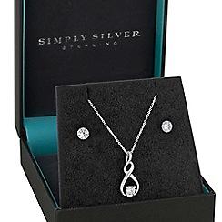 Simply Silver - Sterling silver infinity swirl jewellery set