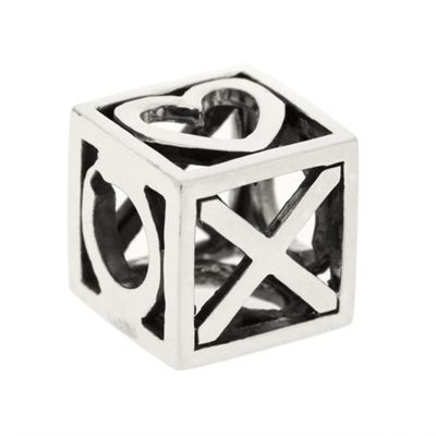 Truth Sterling Silver Heart and Kisses Cube Charm product image