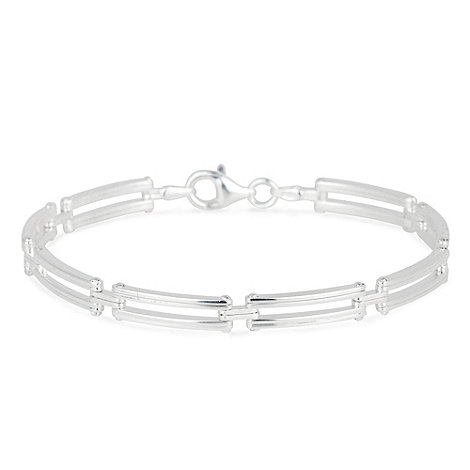 Simply Silver - Sterling silver medium gate effect bracelet