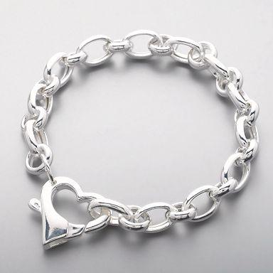Large Heart Link Bracelet - Sterling silver - Bracelets - Jewellery & jewellery boxes - Womens - Debenhams