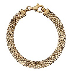Simply Silver - Sterling silver gold plated mesh bracelet