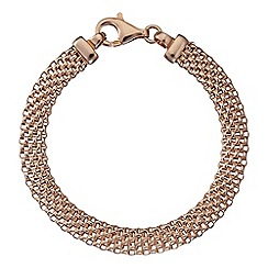 Simply Silver - Sterling silver rose gold plated mesh bracelet