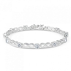 Simply Silver - Sterling silver cubic zirconia infinity bracelet