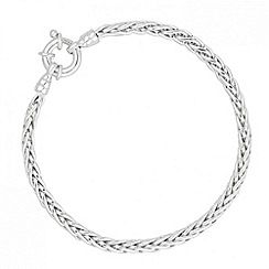 Simply Silver - Sterling silver fox chain bracelet