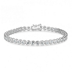 Simply Silver - Sterling silver cubic zirconia tennis bracelet