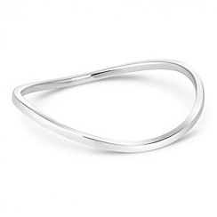 Simply Silver - Sterling silver wave bangle
