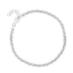 Simply Silver - Sterling silver twisted mesh bracelet