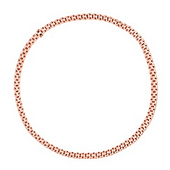 Simply Silver - Sterling silver rose gold plated mesh stretch bracelet