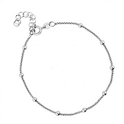 Simply Silver - Polished silver ball bead and fine mesh bracelet