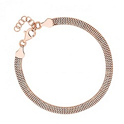 Simply Silver - Rose gold polished slinky chain bracelet