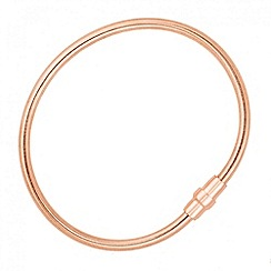 Simply Silver - Polished rose gold magnetic bracelet