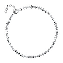 Simply Silver - Sterling silver cubic zirconia encased bracelet