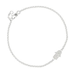 Simply Silver - Sterling silver cubic zirconia hamsa hand bracelet