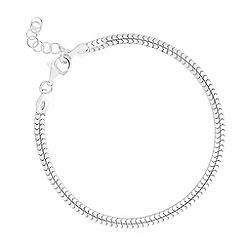 Simply Silver - Sterling silver double row box chain bracelet