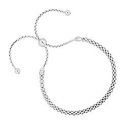 Simply Silver - Sterling silver mesh toggle bracelet
