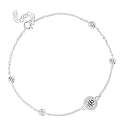 Simply Silver - Sterling silver round cubic zirconia link bracelet