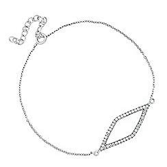 Simply Silver - Sterling silver cubic zirconia encased diamond link bracelet