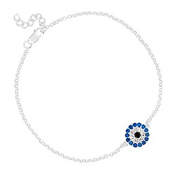 Simply Silver - Online exclusive sterling silver embellished eye charm bracelet