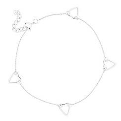 Simply Silver - Sterling silver open heart link bracelet
