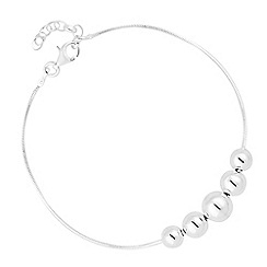 Simply Silver - Sterling silver graduated polished ball bracelet