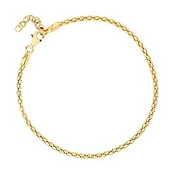 Simply Silver - Sterling silver gold popcorn style chain bracelet