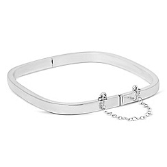 Simply Silver - Sterling silver polished angular bangle