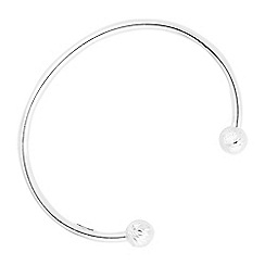 Simply Silver - Sterling silver diamond cut ball cuff
