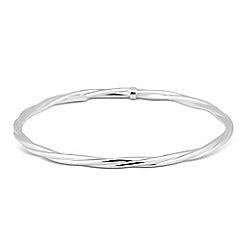 Simply Silver - Sterling silver polished twist bangle