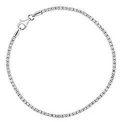 Simply Silver - Sterling silver cubic zirconia fine bracelet
