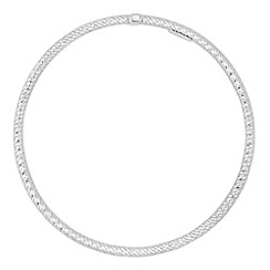 Simply Silver - Gold plated sterling silver diamond cut bangle