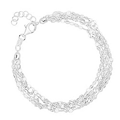Simply Silver - Sterling silver disco link multirow bracelet